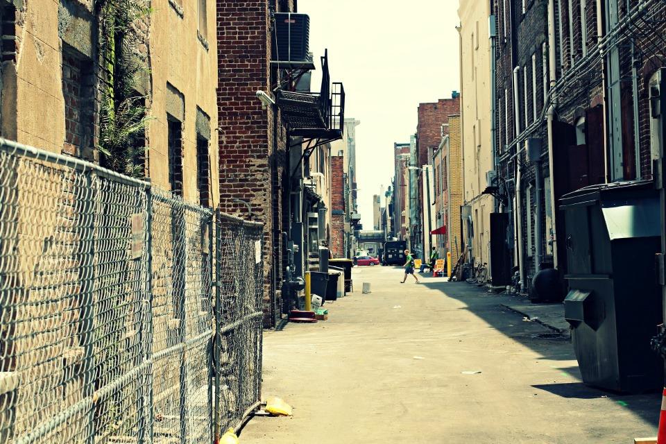 Alleyway in the City of Savannah