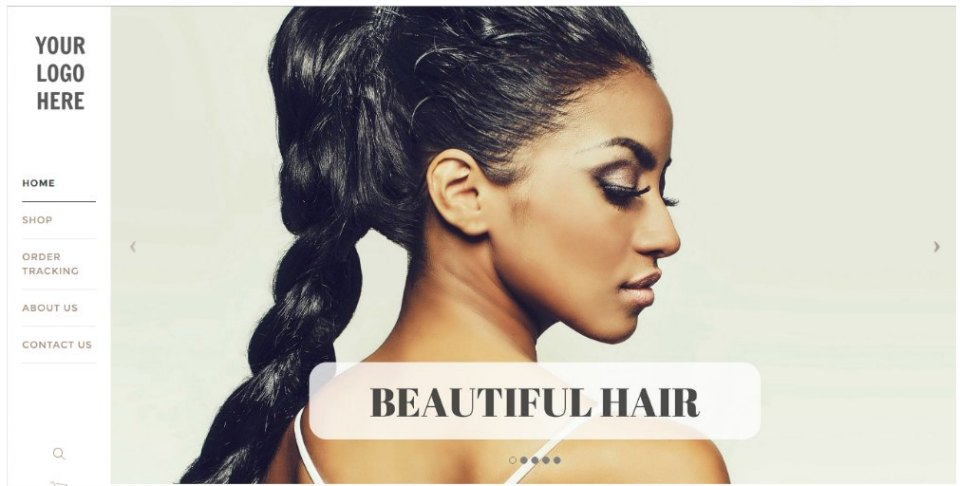 Modern Hair Extension Website